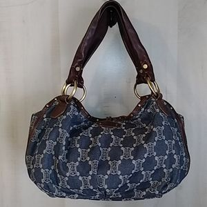 Celine Macadam Hobo Denim Handbag